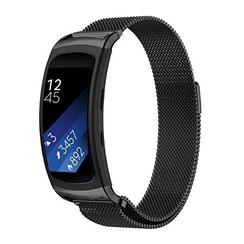 Correa de repuesto iFeeker con cierre magnético, malla milanesa de acero inoxidable para reloj inteligente Samsung Gear Fit2/Gear Fit 2 Pro