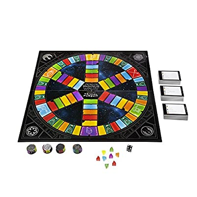 Hasbro Trivial Pursuit: Star Wars the Black Series Edition - Test Your Knowledge with Over 1,800 Easy To Extremely Difficult Questions for Ultimate Fans - 2-4 Players - Instructions Included: Toys & Games