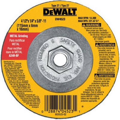 Dewalt Accessories DW4523 4.5-Inch General-Purpose Metal-Grinding Wheel
