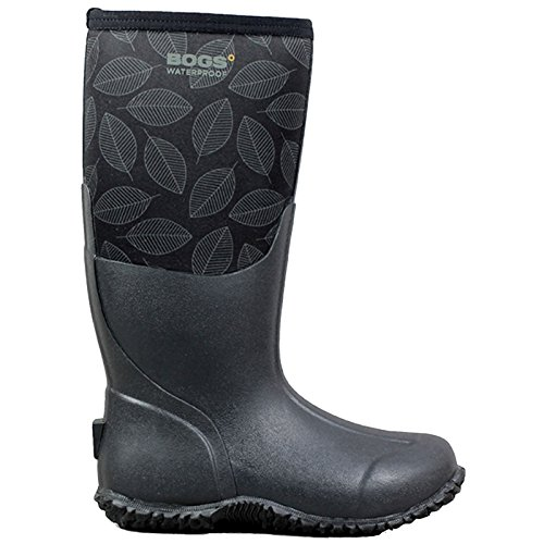Bogs Womens Carver Tall Leafy Rubber Boots Black Multi 5A2nLjdXH