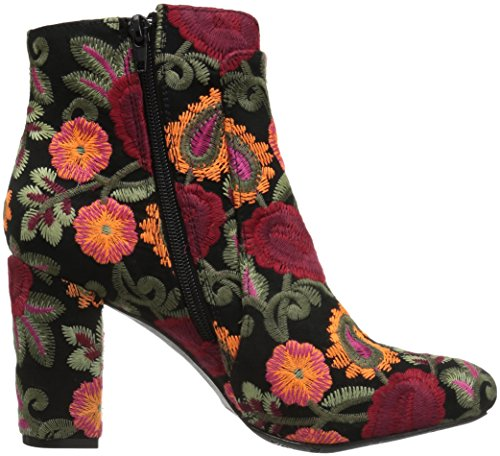 Rosebud Women's Bootie Black Ankle Flores MIA UwBvqYaY