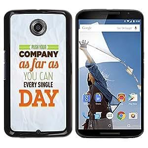 Be Good Phone Accessory // Dura Cáscara cubierta Protectora Caso Carcasa Funda de Protección para Motorola NEXUS 6 / X / Moto X Pro // Company Day Inspiring Paper Modern Message