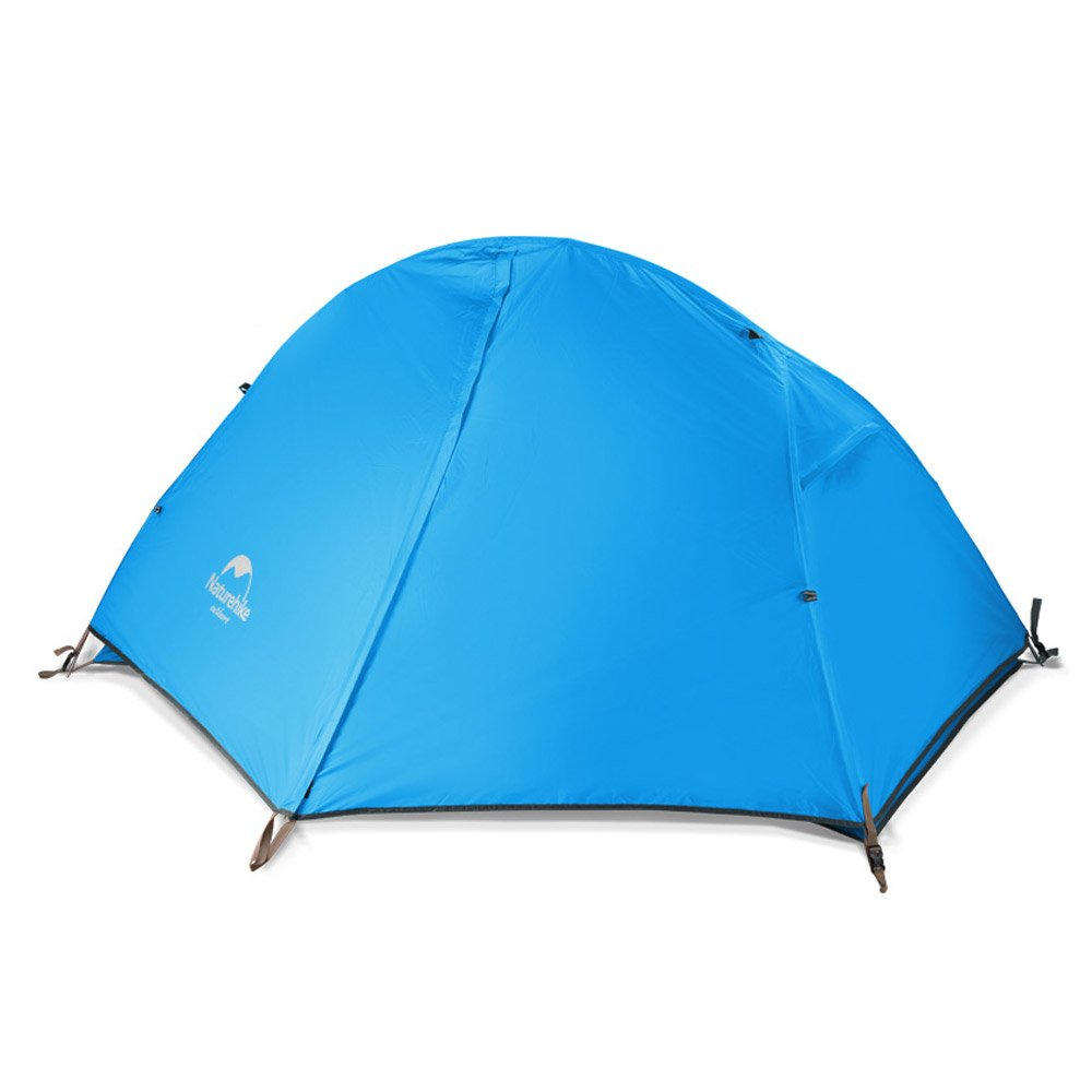 Naturehike Backpacking Tent for 1 Person Camping Hiking Lightweight Waterproof one Person Tent with Footprint (210T Blue) by Naturehike