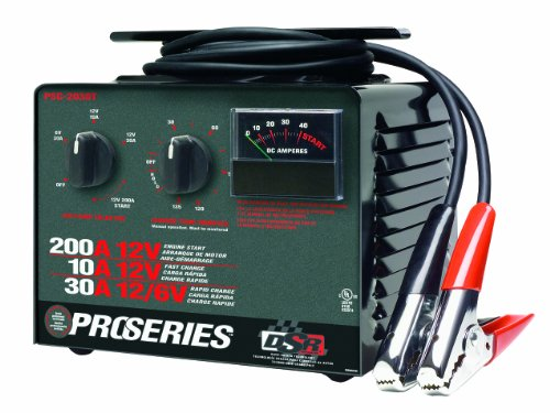 9' Chrome Booster (Schumacher PSC-2030T DSR ProSeries 10/30/200 Amp 6/12 Volt Manual Bench Top Battery Charger/Starter)