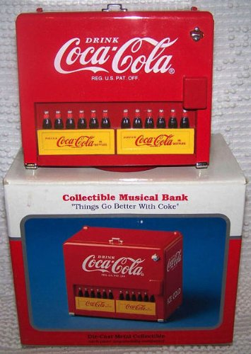 Coca Cola Die-Cast Metal Collectible Musical Bank