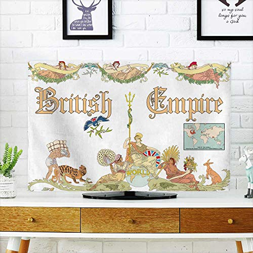 - Analisahome Dust Resistant Television Protector Vector British Empire in Vintage Style tv dust Cover W36 x H60 INCH/TV 65