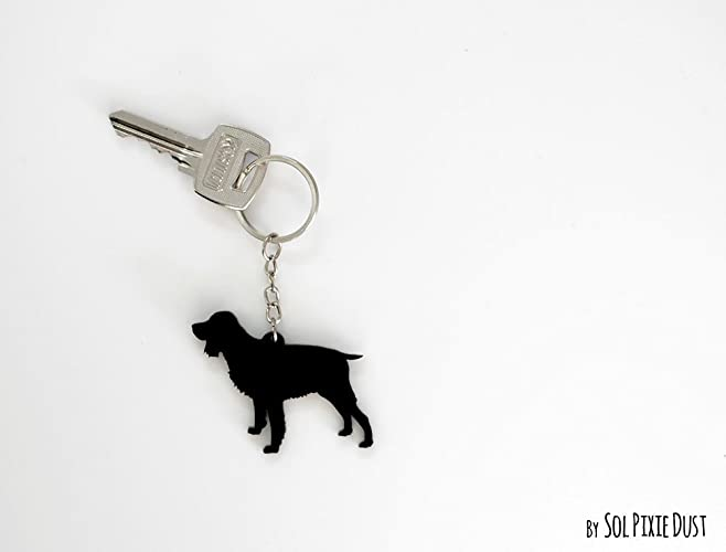 english springer spaniel keychain silhouette