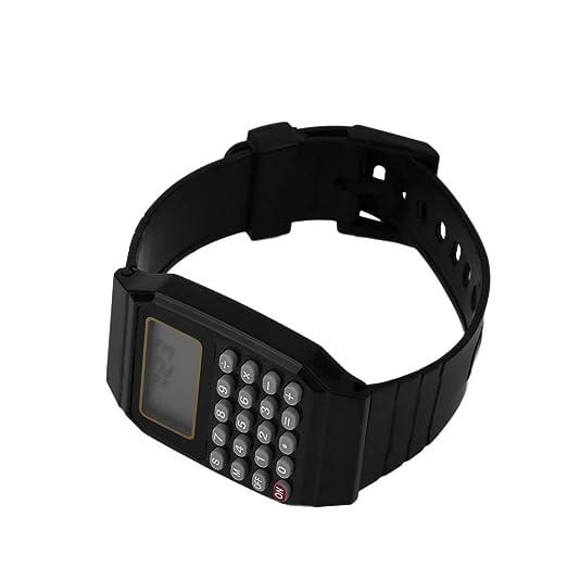 Calculadora de Estudiantes Reloj Digital Reloj de Pulsera de Silicona Color sólido Calculadora: Amazon.es: Relojes