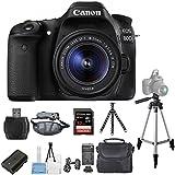 Canon EOS 80D DSLR Camera with 18-55mm STM Lens 1263C005 [International Version] (Pro Bundle)