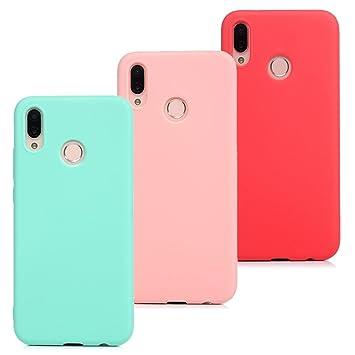 3 x Funda Huawei P20 Lite, Beaulife Carcasa de Suave TPU, Ultra Delgado Flexible Case de Gel se adapta a Huawei P20 Lite, Diseño de Color Puro - ...