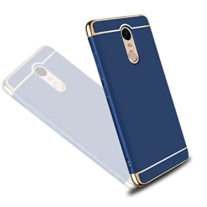 sale retailer f9aec b61d8 Brain Freezer Hard Back Case Cover -3 in 1 Hybrid PC Electroplated for  Xiaomi Redmi Note 4 Indian Version (Blue)