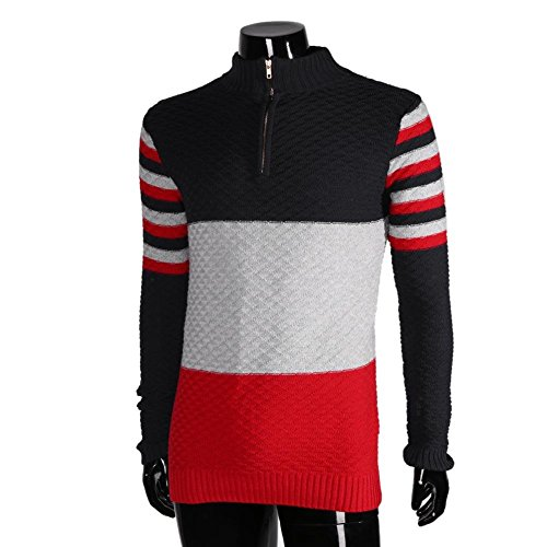 Jaycargogo Men Casual Round Neck Letter Printed Sweatshirt Pullover Top