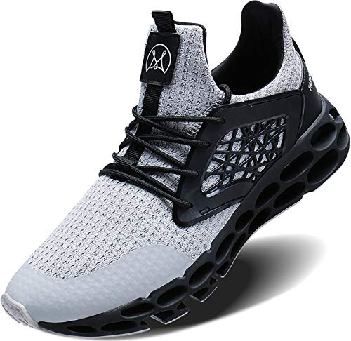 Wonesion Mens Breathable Walking Tennis Running Shoes Blade Slip on Casual Fashion Sneakers