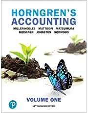 Horngren's Accounting, Volume 1, Eleventh Canadian Edition Plus MyLab Accounting -- Access Card Package (11th Edition)