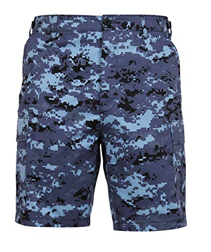 Rothco Digital Camo BDU Shorts, Sky Blue Digital Camo, L