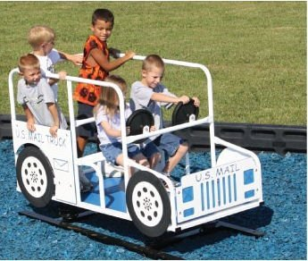 Wholesale Playgrounds RPE-7010DB Us Mail Truck Direct Bury