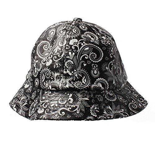 de Cachemira de Sombrero Cubo Pvc Blanco En Piel Y Accessoryo Negro Estampado Yx6XBqwqW
