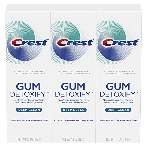 Crest Gum Detoxify Deep Clean Toothpaste Triple Pack, 4.1 Ounce Each