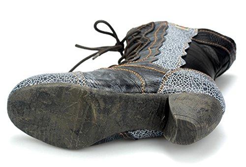 Tma Donna Stivali Invernali Stivali Stivali Foderati Scarpe 8991 Nero