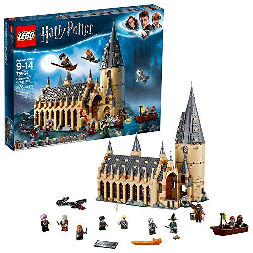 LEGO 75954 Harry Potter Hogwarts Great Hall Building Kit - 878 Pieces, One Pack