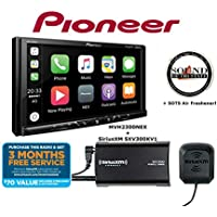 Pioneer MVH-2300NEX 7 Digital Multimedia Video Receiver w Apple CarPlay, Android Auto, Built-in Bluetooth, SiriusXM-Ready and AppRadio Mode + SXV300KV1 SiriusXM Tuner with a SOTS Air Freshener