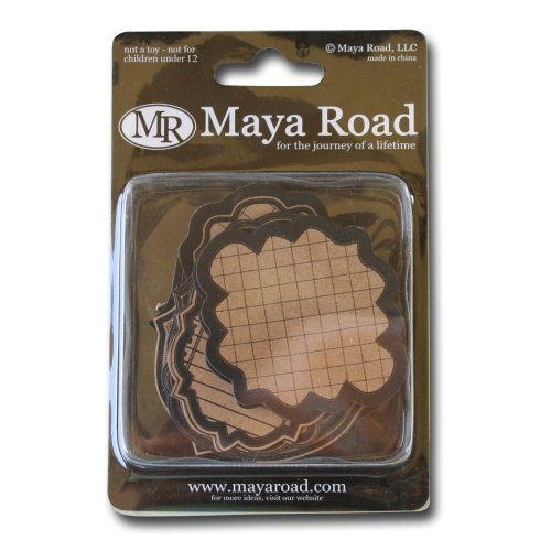 Maya Road Kraft Scroll Frame Journaling ()