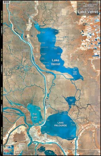 M022 Standard Map Standard Laminated Map Lake Verret Md#