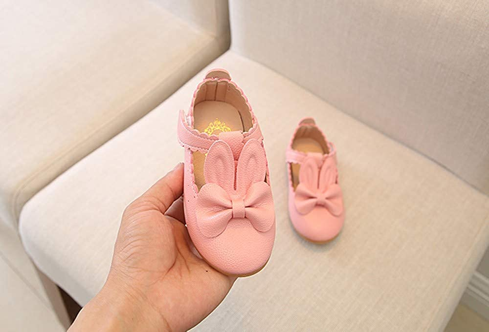 Toddler//Little Kid Lurryly❤Kids Casual Shoes for Girls Rabbit Bowknot Princess Single Shoes