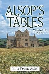 Alsop's Tables: Volume III Part I Paperback
