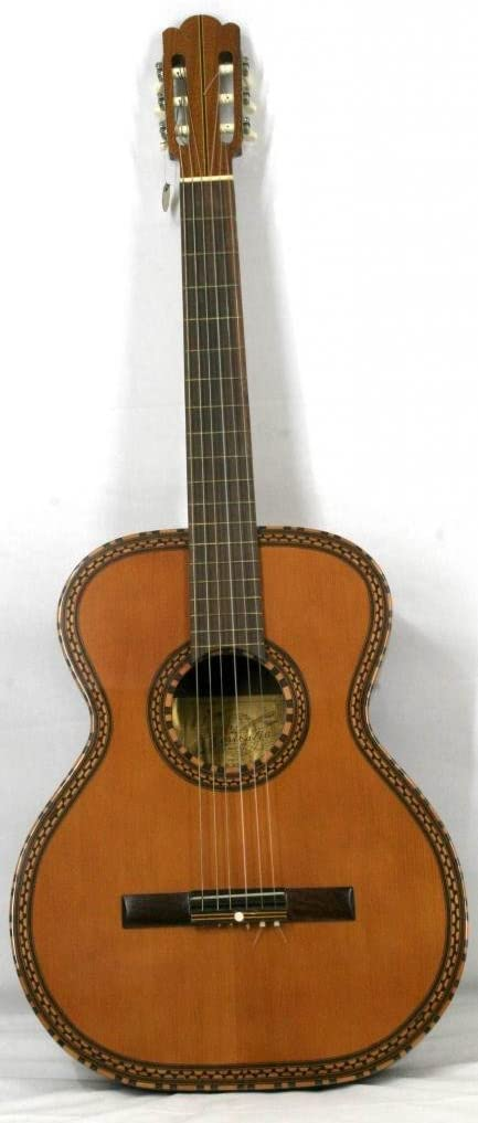 musikalia clásico guitarra Figaro Modelo, kunstvoller mosaico en suelo y de resonancia para boca, Luthier de Crafted–Gigantes, longitud de escala 68cm–Vintage, handgefertigten entre 1970y 1990