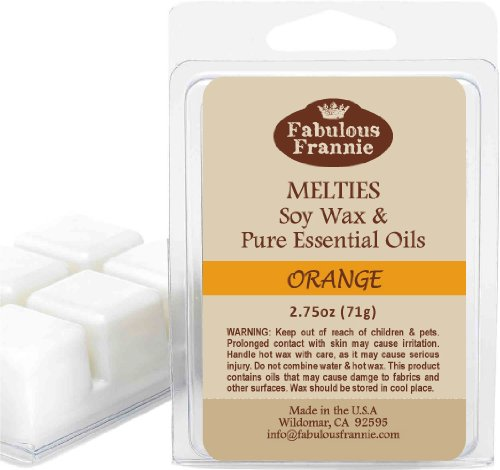 ORANGE 2.5oz of 100% Pure & Natural Soy Candle Meltie/Tart/M