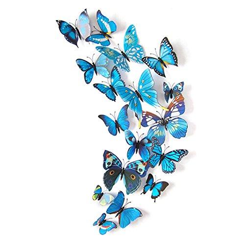 12PCS 3D PVC Magnet Butterflies DIY Wall Sticker Home Decoration - 6