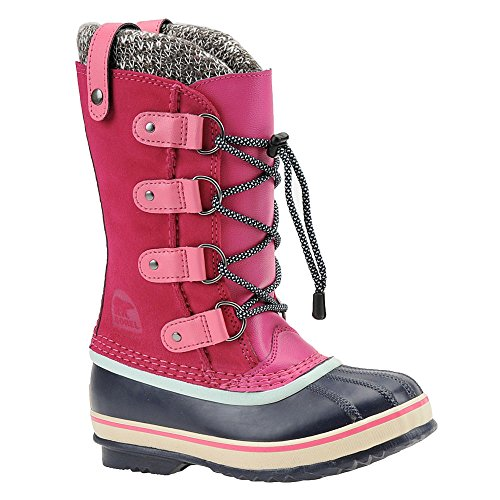 Sorel Children's Youth Joan of Arctic Knit Boot,Haute Pink,US 6 - Kids Haute