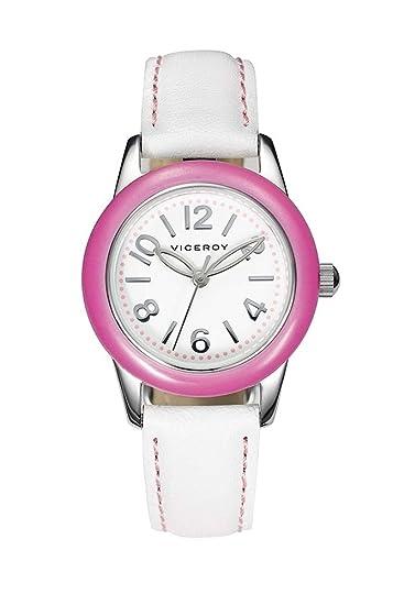 Reloj Viceroy de niña para Regalo de comunión, con Correa Piel Blanca 40714-75.: Amazon.es: Relojes