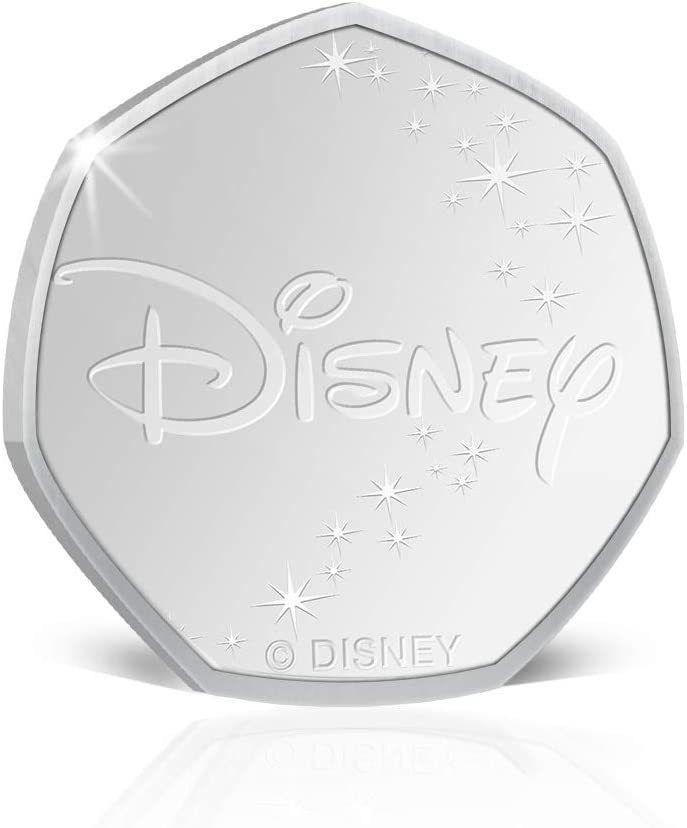 IMPACTO COLECCIONABLES Disney The Lion King Mufasa 50p Shaped Silver Collectable Commemorative Fifty Pence Coin