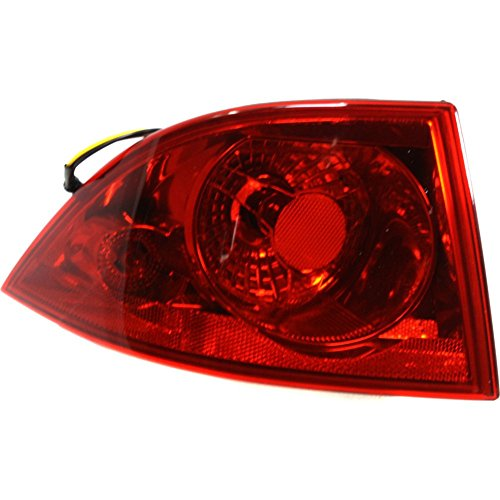 Evan-Fischer EVA15672019355 Tail Light for Buick Lucerne 06-11 Outer Assembly Left (Buick Tail Light Lens)