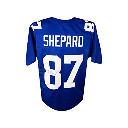 sports shoes 478b4 598f6 Sterling Shepard Autographed New York Giants Custom Football ...