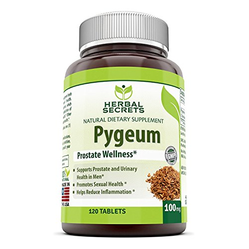 Herbal Secrets African Pygeum Extract – 100mg Pure Pygeum Africanum Bark Capsules – Supplement Standardized to 12% Phytosterols – 120 Capsules Per Bottle