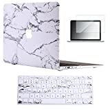 "Vasileios 3in1 Rubberized Frosted Soft-touch Hard Shell Case Cover for 13-inch Macbook Air 13.3"" (Model: A1369 and A1466) (Marble 02)"
