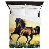 Queen Duvet Cover Horse at Sunset