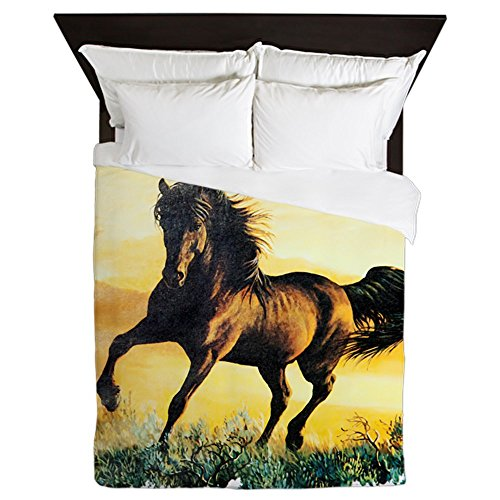 Queen Duvet Cover Horse at Sunset by Royal Lion