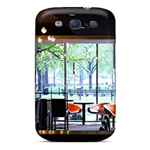 Premium [Tqv5024Cgba]cafe With A View Case For Galaxy S3- Eco-friendly Packaging