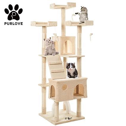 Centro de actividades para gatos, grande, 3 plataformas ...