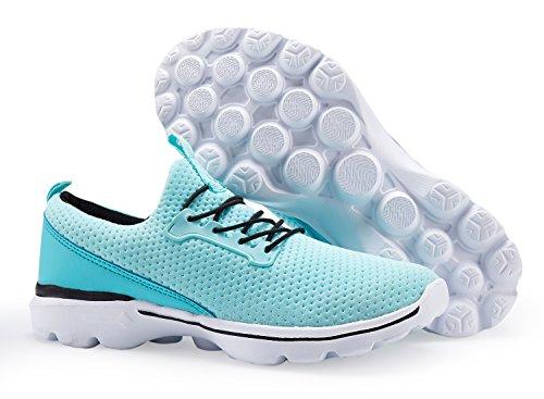 Chaussures De Tennis Légères Féminines Chaussures De Marche Respirant Sport Yoga Jogging Chaussures De Course, Vert, Nous 9.5 = Eu 40 Femmes