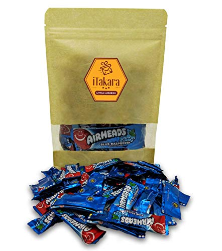 - Airheads Bulk - Airheads Mini Candy Bars - Blue Raspberry Flavor - 24 oz in Sealed Stand-up Pouch