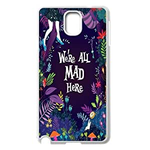 Hjqi - Customized We're All Mad Here Phone Case, We're All Mad Here Custom Case for Samsung Galaxy Note 3 N9000