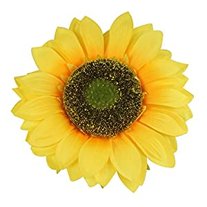 """Colorfulife Artificial Silk 10"""" Big Sunflower Flower Head for DIY Wedding Home Party Decoration Hair Clip Wreath Decorative 107"""