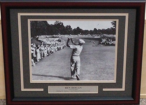 Ben Hogan 1-Iron Drive at Merion at the 1950 US Open 8x10 Framed Photo (Charcoal Gray Matting)