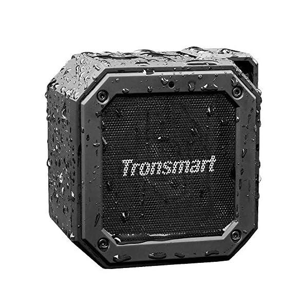 Enceinte Bluetooth Waterproof, Tronsmart Haut Parleur Bluetooth Portable, Autonomie 24H, Technologie TWS et Basses Puissantes, étanchéité IPX7, pour Téléphone et Tablettes, l'extérieur Les Voyages 1