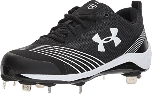 Under Armour Women's Glyde ST Softball Shoe, Black (011)/Black, (Lightweight Softball Cleats)